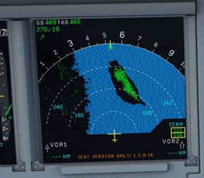 Airbus X Extended A318 A319 Terrain Display