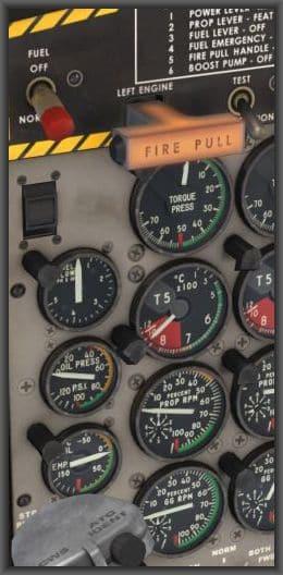 AS DHC-6 300 Feueralarm Ausschnitt