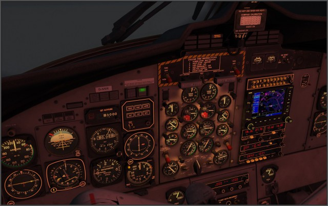 DHC-6 300 Panelbeleuchtung