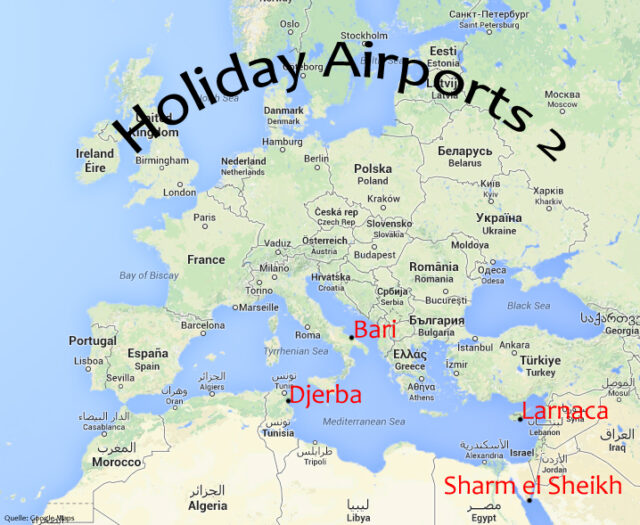 Lage Holiday Airports