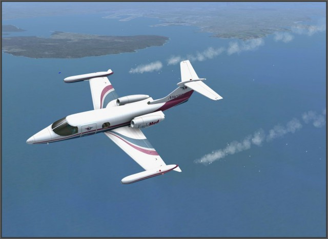 Learjet 24b - Emergency Situation