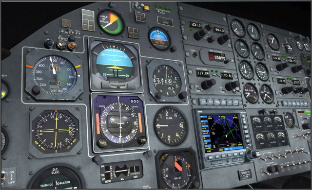 Learjet 24b - Panel Day