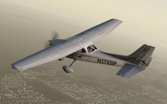 cessna_172sp_flying_from_above