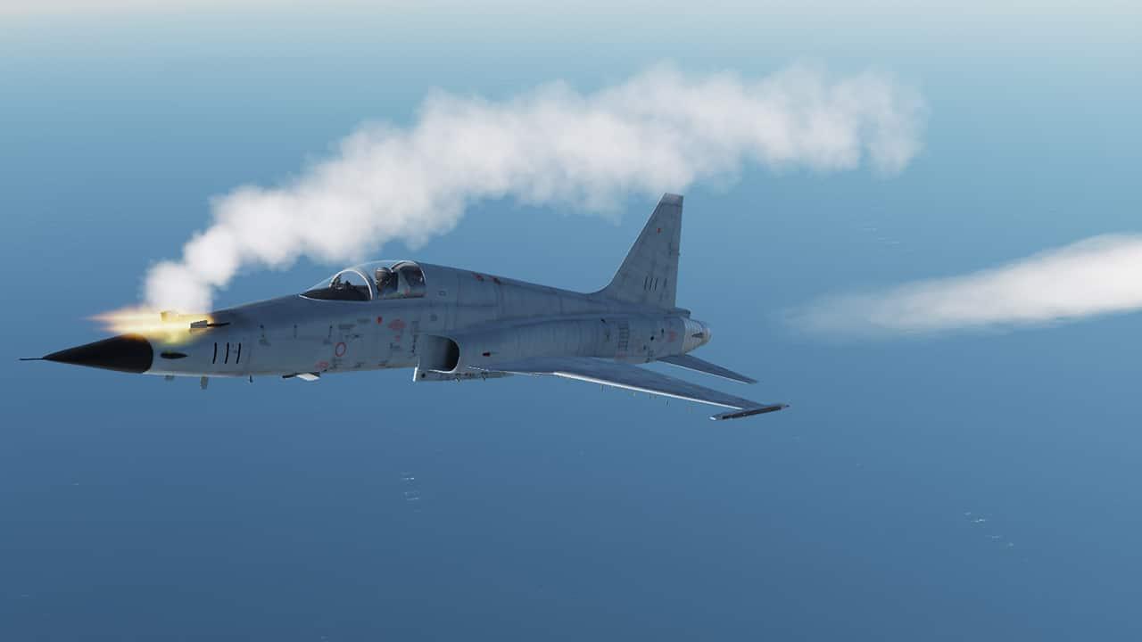 Die F5E im Dogfight.